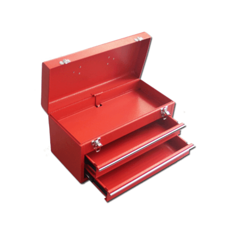 HUMMER กล่องเครื่องมือเหล็ก ลิ้นชัก 2 ชั้น HMJS-12C สีแดง
