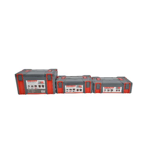 HUMMER ชั้นกล่องเครื่องมือพลาสติก 3 ชิ้น พร้อมล้อเลื่อน TH6302023