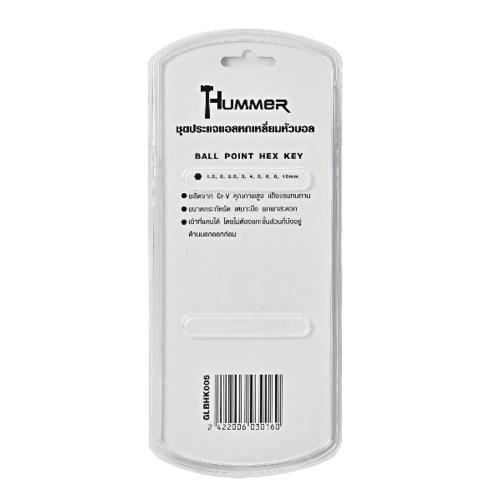 HUMMER ชุดประแจแอลหกเหลี่ยมหัวบอล 9 ชิ้น GLBHK005