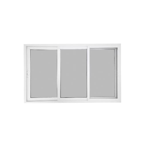 Wellingtan หน้าต่างไวนิล บานเลื่อน ขนาด 180cm.x110cm. พร้อมมุ้ง SFS (2-T) GYW2001 สีขาวเทา