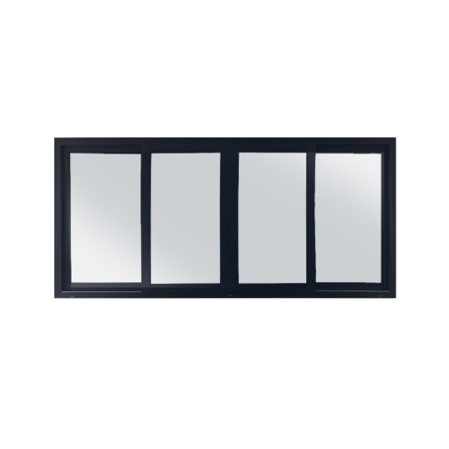 Wellingtan หน้าต่างบานเลื่อน 2 TONE 4 บาน 240x110cm (กxส)  GYW3001 ขาว-เทา