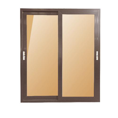 Wellingtan ประตูไวนิล บานเลื่อน SS (2-T)ขนาด200cm.x205cm. สีขาวน้ำตาล พร้อมมุ้ง  BD3001