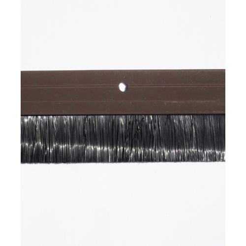 BIGROW เส้นกันแมลงอะลูมิเนียม แถบขนแปรง  6301 90cm.  สีน้ำตาลเข้ม