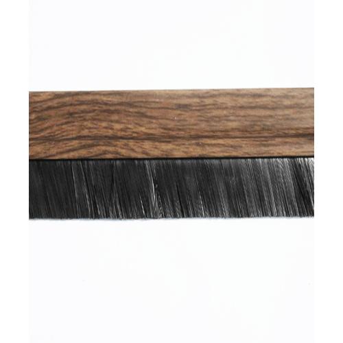 BIGROW เส้นกันแมลง PVC แถบขนแปรง  6101 80cm. ลายไม้ สีน้ำตาลอ่อน
