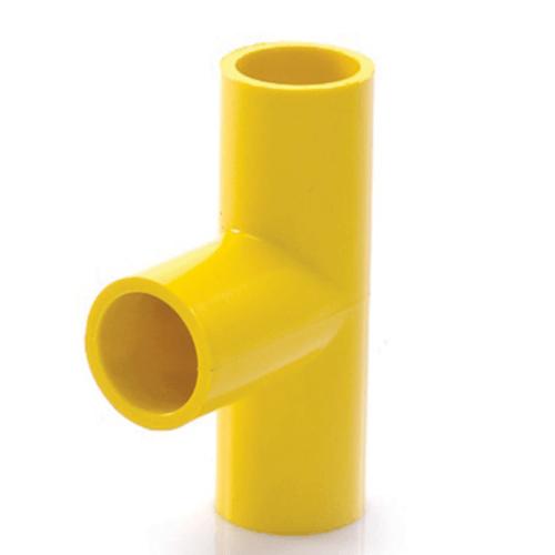 V.E.G สามทางฉากเหลือง1นิ้ว  -  สีเหลือง