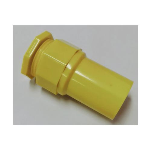 V.E.G ข้อต่อเข้ากล่องร้อยสายเหลือง 3/8นิ้ว  -  สีเหลือง