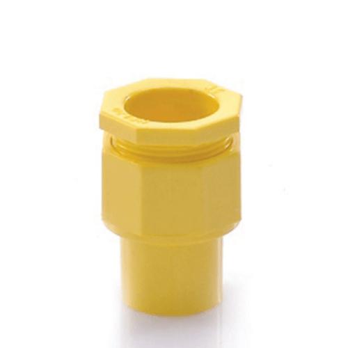 V.E.G ข้อต่อเข้ากล่องร้อยสายเหลือง 1/2นิ้ว  -  สีเหลือง