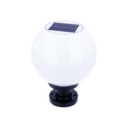 G-LAMP โคมไฟหัวเสาโซลาเซลล์ พร้อมขั้ว E-27 Day Light SMD-LED LG112 สีขาว