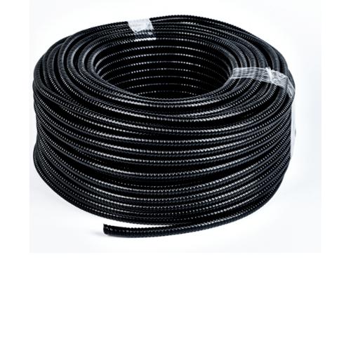 V.E.G. ท่ออ่อนเหล็กหุ้ม PVC ½ นิ้ว 50M/ม้วน  สีดำ
