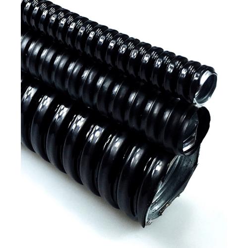V.E.G. ท่ออ่อนเหล็กหุ้ม PVC  3/4 นิ้ว   10M/ม้วน สีดำ