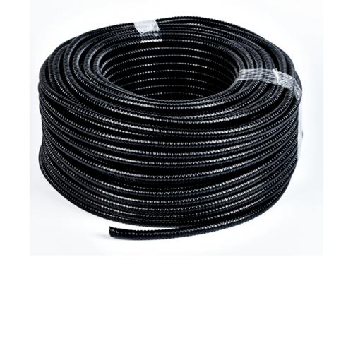 V.E.G. ท่ออ่อนเหล็กหุ้ม PVC 1 นิ้ว  10M/ม้วน  สีดำ