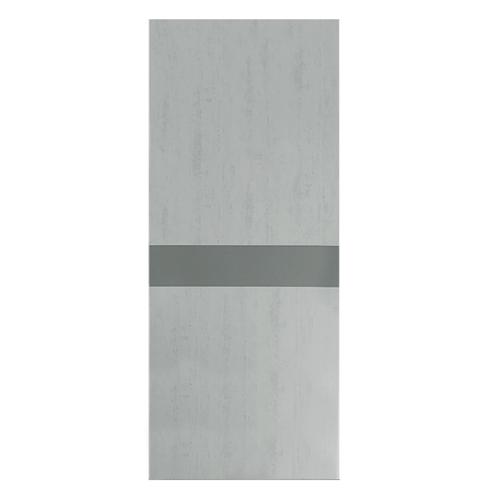 HOLZTUR ประตูปิดผิวเมลามีน ขนาด 80x200ซม. สีเทา-ดำ MD-F01-4