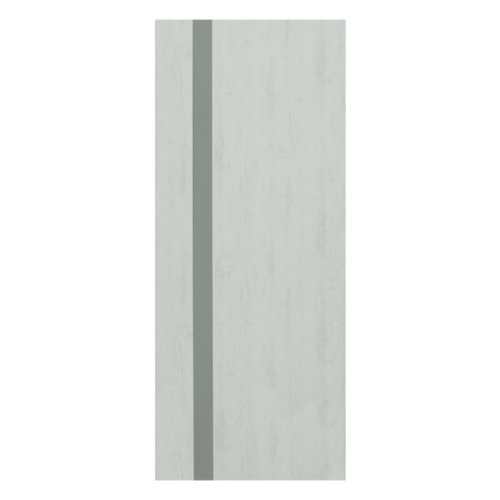 HOLZTUR ประตูเมลามีน ขนาด 80x200 ซม. MD-F01-5 สีเทา-เทาดำ