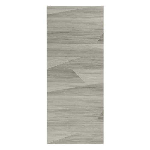 HOLZTUR ประตูเมลามีน บานทึบเรียบ ขนาด 80x200ซม. MD-F01-13 สีเทา-ลายไม้สัก