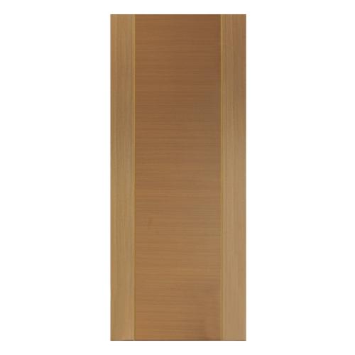 HOLZTUR ประตูเมลามีน เซาะร่อง ขนาด 80x200ซม. MD-FC06 สีสัก-สักทอง