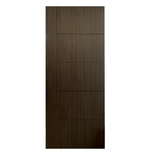 HOLZTUR ประตูเมลามีน เซาะร่องดำ ขนาด 80x200ซม. MD-FC05 DARK GRAY OAK
