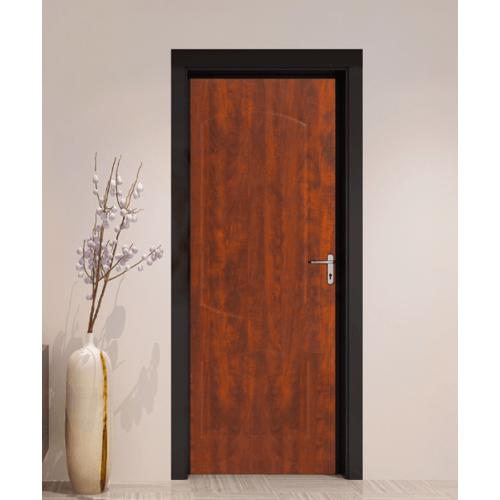 HOLZTUR ประตูปิดผิวพีวีซี บานทึบลูกฟัก ขนาด 80x200 ซม. PVC - P10 APPLE WOOD สีน้ำตาลเข้ม