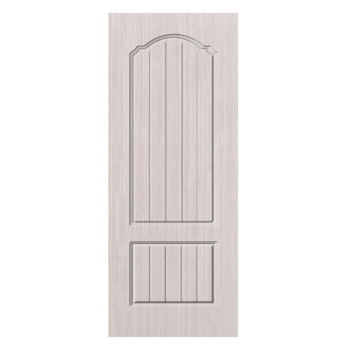 HOLZTUR  ประตูปิดผิวพีวีซี บานทึบลูกฟัก ขนาด 80x200ซม. PVC -P18-2 SILVER OAK