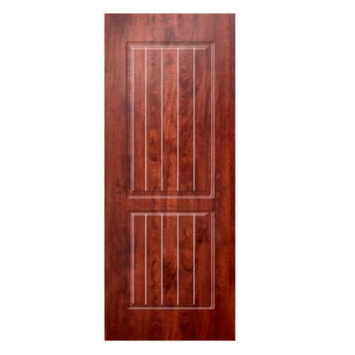 HOLZTUR ประตูปิดผิวพีวีซี บานทึบลูกฟัก ขนาด 80x200ซม. PVC-P19-1 APPLE WOOD สีน้ำตาล