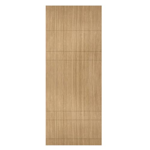 HOLZTUR ประตูปิดผิวพีวีซี บานทึบทำร่อง ขนาด 80x200ซม. PVC-P24-1 BROWN OAK