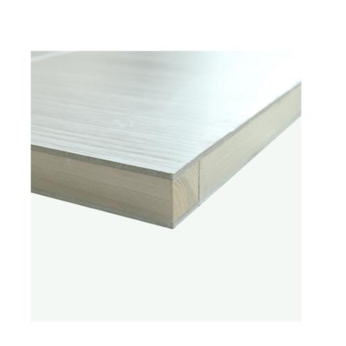 HOLZTUR ประตูปิดผิวพีวีซี บานทึบทำร่อง ขนาด 80x200ซม. PVC-P24-3 GRAY OAK สีเทาอ่อน