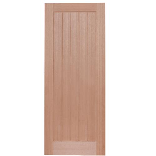 HOLZTUR ประตูเอ็นจิเนียร์ไม้สยาแดง บานทึบทำร่อง ขนาด 80x200cm. WDSTI8020-MM