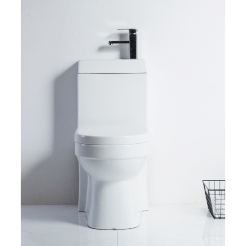 VERNO สุขภัณฑ์ชิ้นเดียวพร้อมอ่างล้างมือ  เพรสตัน VN-252 สีขาว
