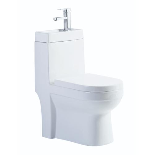 VERNO สุขภัณฑ์ชิ้นเดียวพร้อมอ่างล้างมือ  เพรสตัน VN-252 ขาว