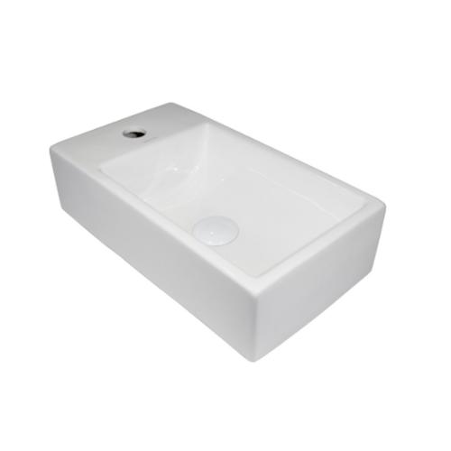 VERNO อ่างล้างหน้าแบบวางบนเคาน์เตอร์ จินนี่ VN-8398 สีขาว
