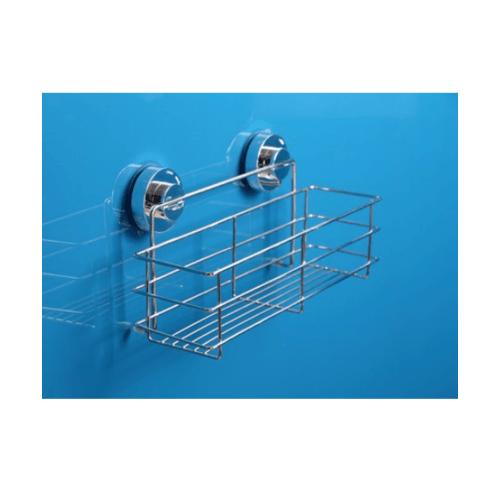 UCHI ตะกร้าใส่อุปกรณ์อาบน้ำสเตนเลส แบบดูดติดผนัง ขนาด 11 x 30 x 14.5 cm. ZXYC002