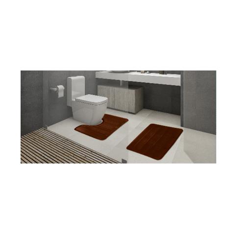 COZY พรมห้องน้ำ   CZ-003  สีน้ำตาล