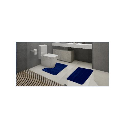 COZY พรมห้องน้ำ  CZ-007  สีกรม