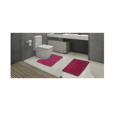 COZY พรมห้องน้ำ  CZ-014   สีแดง