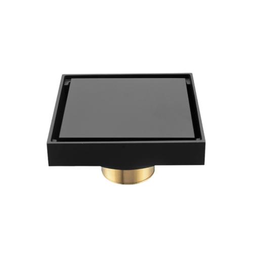 IRIS ตะแกรงกันกลิ่นทองเหลืองชุบ สีดำแมท BLJ-8764