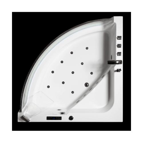 VERNO อ่างอาบน้ำระบบน้ำวนแบบเข้ามุม ไซโกะ VN-C401 สีขาว