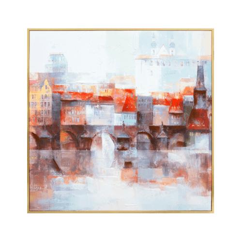 COZY  ภาพพิมพ์แคนวาสพร้อมกรอบ Abstract-Paint  ขนาด 80x80CM 6460-1095/MDF-1010