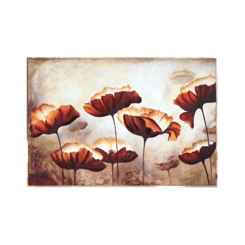 COZY  ภาพพิมพ์แคนวาสพร้อมกรอบ  Flower-Paint ขนาด 80x120CM  6460-1004/MK-1010