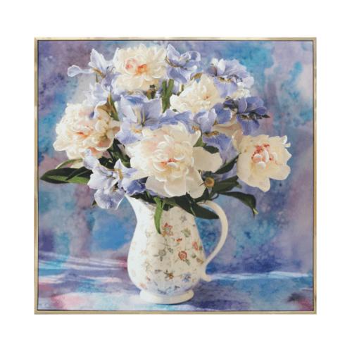 COZY  ภาพพิมพ์แคนวาสพร้อมกรอบ Flower-Paint ขนาด 80x80CM 6460-1004/MDF-1010