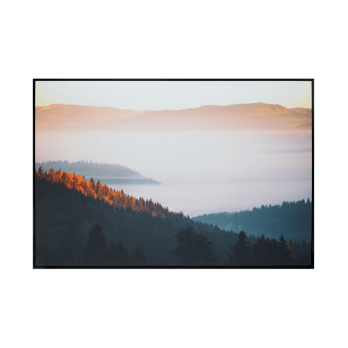 COZY ภาพพิมพ์แคนวาสพร้อมกรอบ Viewขนาด 80x120CM 6460-06/MK-1010V.1