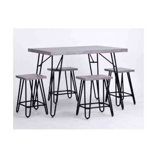 Delicato ชุดโต๊ะอาหาร 4 ที่นั่ง BADEN SET