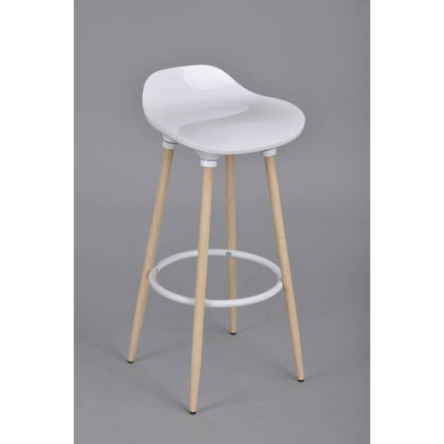 Delicato เก้าอี้สตูล MOAB สีขาว