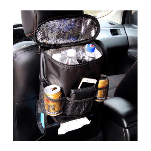 Cover กระเป๋าเก็บของเก็บความร้อน-เย็นหลังเบาะรถยนต์ COVER รุ่นCA-13 สีดำ CA-13