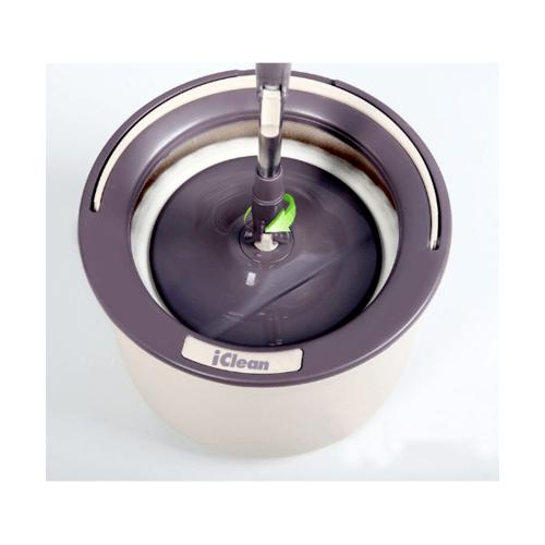 ICLEAN ชุดถังปั่นไม้ม็อบ 2 ระบบ ขนาด 31x31x25ซม. ความจุ 12ลิตร  PD-09-1/JBR สีน้ำตาล