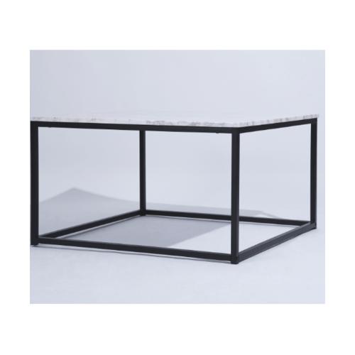 Delicato โต๊ะกาแฟ 80x80x45ซม.  SURFDALE MARBLE สีขาว