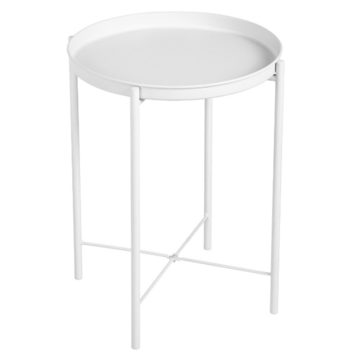 Delicato โต๊ะข้างทรงกลม ขนาด 43x43x52ซม. GLADOM WHITE สีขาว