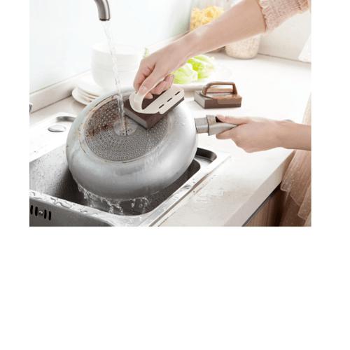 ICLEAN ฟองน้ำนาโนเนื้อทรายพร้อมที่จับ SG020-WHITE