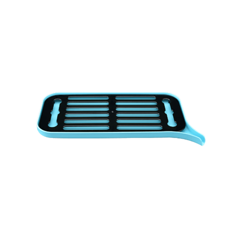 UCHI ถาดคว่ำจาน ขนาด 18*40*2.2ซม. DCY005-BU สีฟ้า