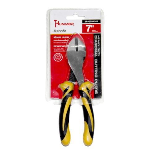 HUMMER คีมปากตัด ขนาด 7 นิ้ว JR-QZ013-S 7 สีเหลือง