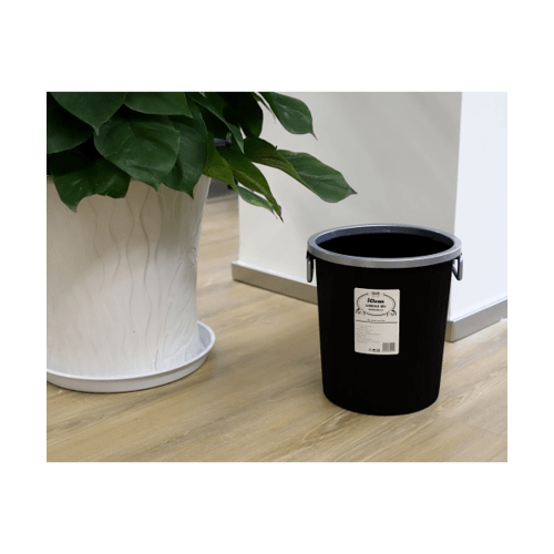 ICLEAN ถังขยะพลาสติก  ความจุ 15ลิตร  ZJX004-BK สีดำ