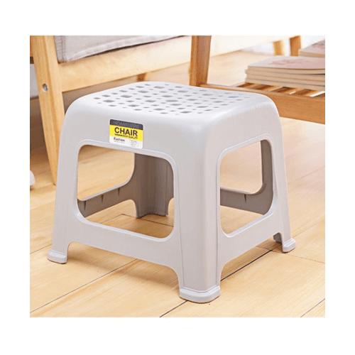 GOME เก้าอี้พลาสติก ขนาด 31x33.5x31 cm.  ZAJX001-DGY สีเทา